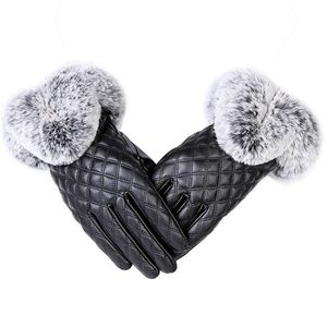 ❤️🔥 Leather and Full Cuff Fur Gloves